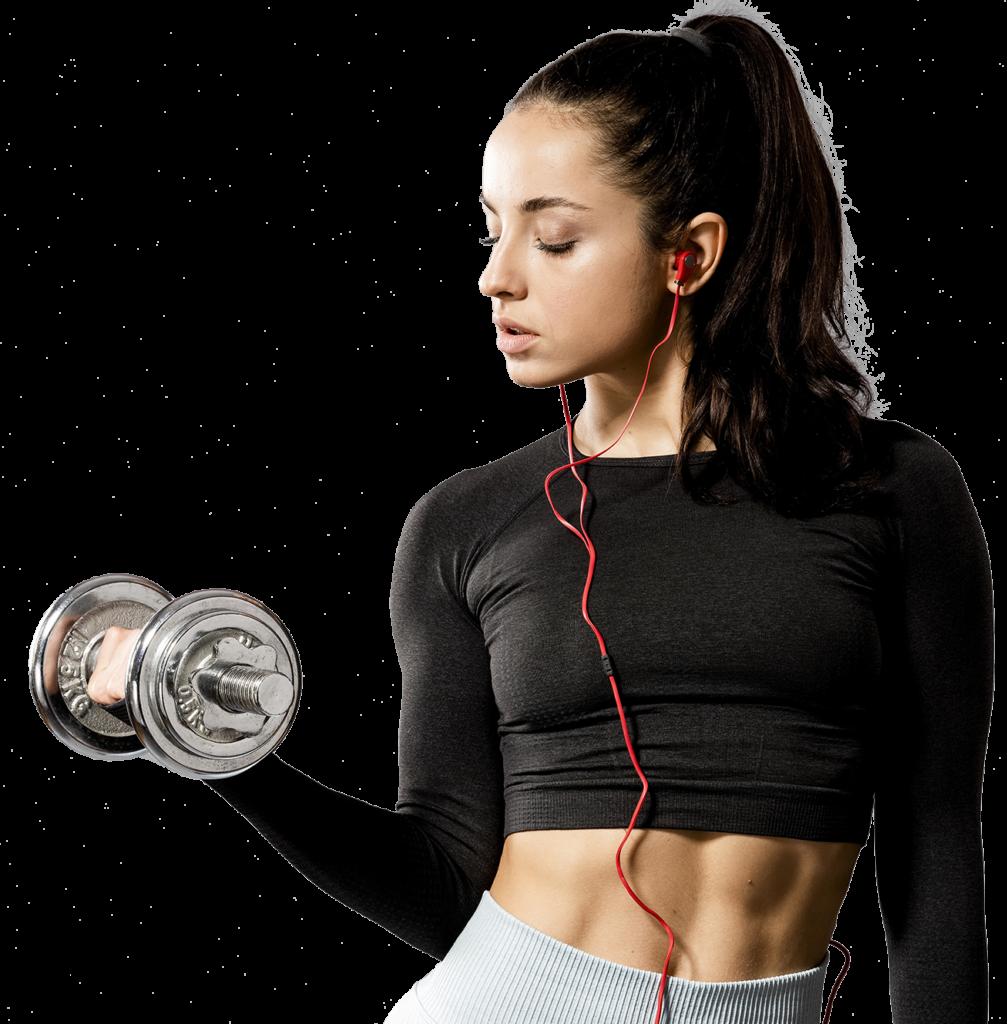 Ragazza-fitness-manubrio-pesi